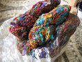 Multicolored Banana Silk Yarn for Knitters