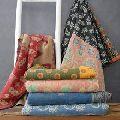Indian kantha sari quilt