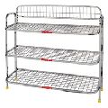 organizer stainless steel metal shoe rack