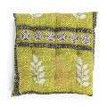 cotton kantha quilt pillow dining cushion soft chair pad