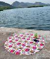 Floral Kantha Work Quilt Yoga Mat