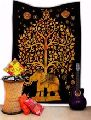 Elephant Tree Of Life Psychedelic tapestry Wall Hanging