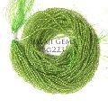 Natural Peridot Roundel Faceted bead