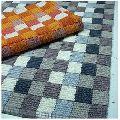 Colorful Frame Loom Cotton Bath Mat