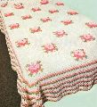 Rose Flower Knitted Crochet Bed spread