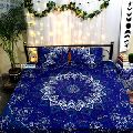 Blue Bohemian Psychedelic Star duvet cover