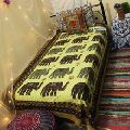 Elephant Patchwork Kantha Quilts