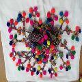 Handmade decorative india pom pom and tassel