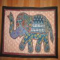 Handmade Ethnic vintage Patchwork elephant wall hangings
