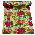 Traditional flower print KANTHA WORK BEDSPREADS