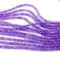 amethyst handmade rondelle loose gemstones beads