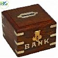 wooden saving money box