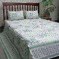 Cotton Block Printed Queen Size Bedspread