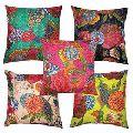 Cotton Kantha cushion cover