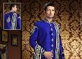 Mens Ethnic Dark Blue Sherwani