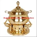 Brass Elephant Round Chafing Dish