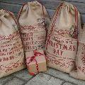 jute shopping drawstring bag