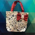 Small square jute gift bag