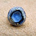 Druzy Geode Pave Diamond 18k Gold Plated Gemstone Prong Setting Sizable Ring
