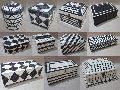 Bone Horn Black & white antique colonial Boxes