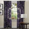 Blue Ombre Mandala Cotton Window Door Cover Curtain