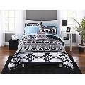 Piece Black White Southwest Comforter Full Set