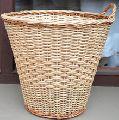 Wicker waste paper basket