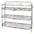 stainless steel metal shoe rack