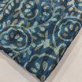2.5 meter indigo base white block Printed Cotton Fabric