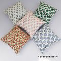 5 Pcs Set Of Cushion Cover Hand Block Print Pillow case 1616 inches size SSTHCC07