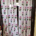 Cotton Dense glub beautiful flower Hand Block Print Sun Light Door Curtain