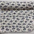Indian Hand Block black tree Print Baby Kantha Quilt