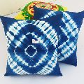 Lot Indian Mandala Hand Made Pure Cotton Indigo Blue Color Cushion