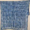Print Sarong, Cotton blue colour flower Dupatta Stole
