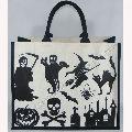 Halloween Jute Cotton Bag