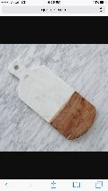 Marble with wood chopping board