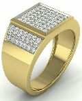 Mens Gold Diamond Rings