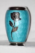 Ascot Blue Brass Urn