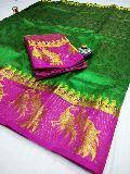 Kanjiwaram dubble peacock silk