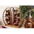 D shaped Wooden Bookshelf