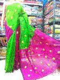 Handloom Silk Cotton Zari Ball Butta Saree