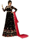 Designer Faux Georgette Heavy Embroidred And Hand Work Anarkali Suit