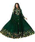 Designer Georgette Heavy Embroidred And Hand Work Anarkali Suit