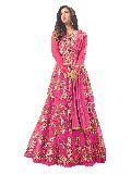 Designer Heavy Embroidered Net Pink Anarkali Salwar Suit