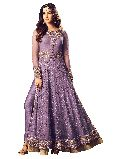Designer Latest Purple Long Straight Net Salwar Suit