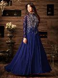Exclusive Blue Party Wear Anarkali Salwar Suit at YOYO Fashion