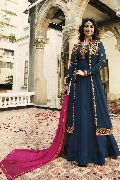 Fancy Party Wear Faux Georgette Embroidered Anarkali Salwar Suit