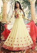 Latest Fancy Party Wear Faux Georgette Embroidered Anarkali Salwar Suit