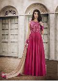 Stunning Pink Anarkali Salwar Suit at YOYO Fashion