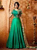 Trendy Sea Green Anarkali Salwar Suit at YOYO Fashion